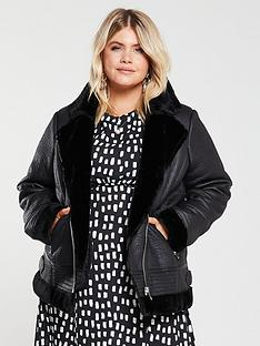 v-by-very-curve-faux-shearling-aviator-coat-black