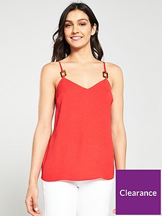 v-by-very-horn-detail-cami-top-rednbsp