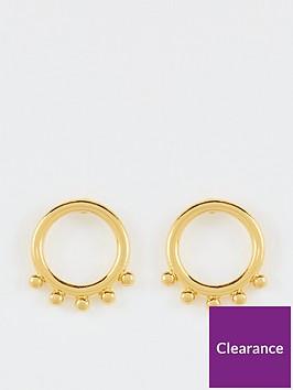 whistles-ring-stud-earrings-gold