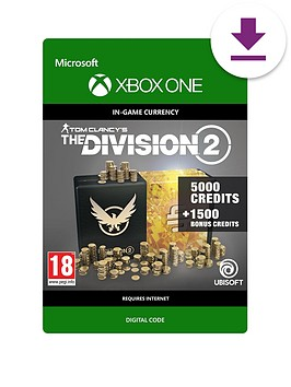 xbox-one-tom-clancys-the-division-2-6500-premium-credits-pack
