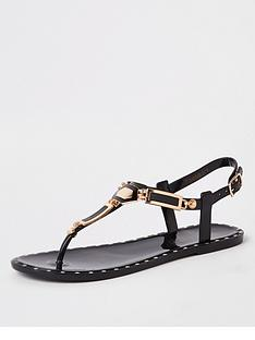 river-island-stud-jelly-sandals-black