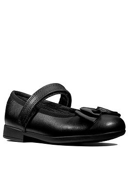 Clarks Clarks Scala Tap Bow School Shoes - Black Leather Picture