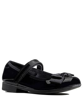 Clarks Clarks Scala Tap Patent Bow School Shoes - Black Picture