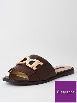 river-island-river-island-snaffle-detail-mule-sandals-brown
