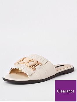 river-island-river-island-snaffle-detail-mule-sandals-ecru