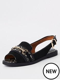 river-island-river-island-slingback-snake-detail-sandals-black