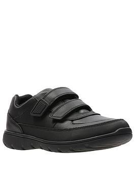 clarks-venture-walk-strap-shoes-black-leather