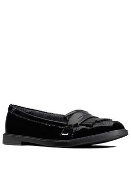 Clarks Clarks Scala Bright Loafers - Black Patent Picture