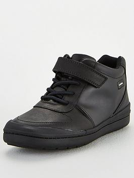 Clarks Clarks Rock Stride School Boots - Black Leather Picture