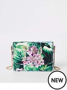 river-island-river-island-embelllished-print-mini-cross-body-bag-green
