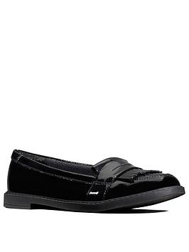 Clarks Clarks Youth Scala Bright Loafers - Black Patent Picture