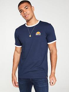 ellesse-cubist-ringer-t-shirt-blue