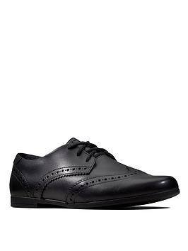 Clarks Clarks Scala Lace Brogues - Black Leather Picture