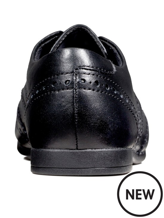 Scala Lace Youth Black Leather | Clarks