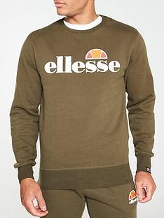 ellesse-succiso-crew-neck-sweat-khaki