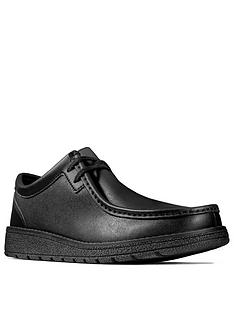 clarks-youth-mendip-craft-lace-up-school-shoes-black