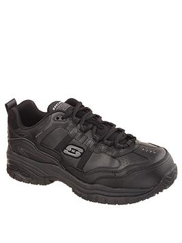 Skechers Skechers Work Relaxed Fit Lace Up Shoe - Black Picture