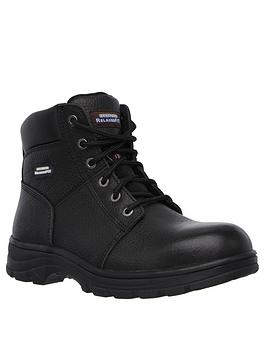 Skechers Skechers Work Relaxed Fit Workshire Lace Up Boot - Black Picture