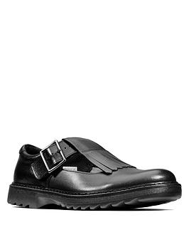 Clarks Clarks Youth Asher Verve School Shoes - Black Leather Picture