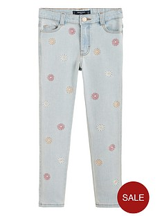 mango-girls-embroidered-flower-jeans