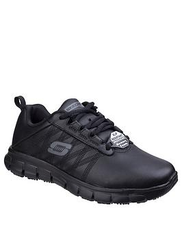 Skechers Skechers Sure Track Trainers - Black Picture