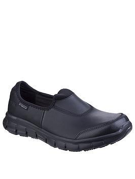 Skechers Skechers Sure Track Plimsolls - Black Picture