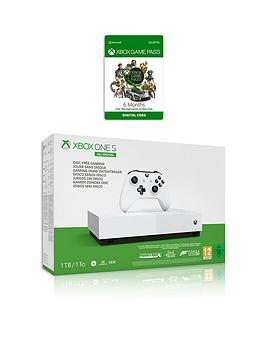 xbox-one-s-1tbnbspall-digital-edition-console-disc-free-gaming-with-6-months-game-pass