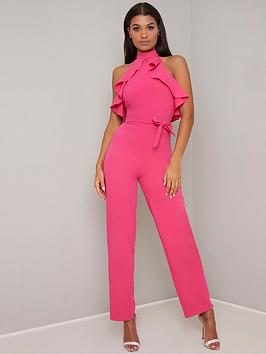 chi-chi-london-shellie-jumpsuit-fuchsia