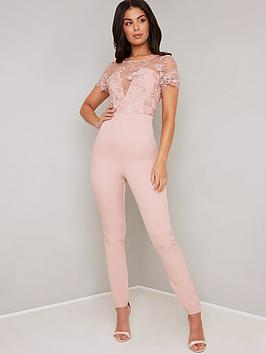 chi-chi-london-olive-jumpsuit-pink
