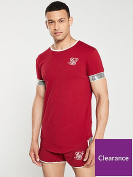 sik-silk-runner-cuff-gym-t-shirt-red