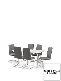julian-bowen-manhattan-gloss-150-cm-dining-table-6-roma-chairs