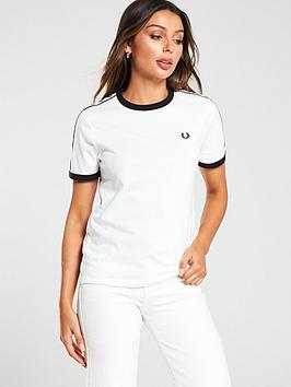Fred Perry Fred Perry Taped Ringer T-Shirt - White Picture