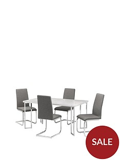 julian-bowen-positano-150-cm-marble-effect-dining-table-4-roma-chairs