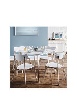 Julian Bowen Julian Bowen Casa 90 X 90 Cm Square Dining Table + 4 Chairs Picture