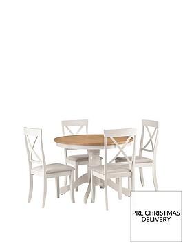 julian-bowen-davenport-160-cm-round-dining-table-4-chairs