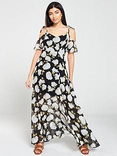 v-by-very-mono-floral-print-cold-shoulder-maxi-dress-black-floral