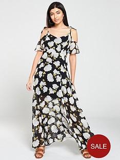 v-by-very-mono-floral-print-cold-shoulder-maxi-dress-black-floral