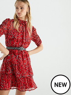 v-by-very-ruched-sleeve-tea-dress-print