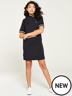 fred-perry-high-neck-dress-navy