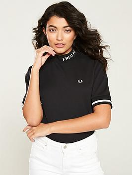 fred-perry-high-neck-t-shirt-black