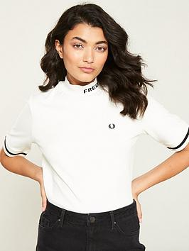 fred-perry-high-neck-t-shirt-white