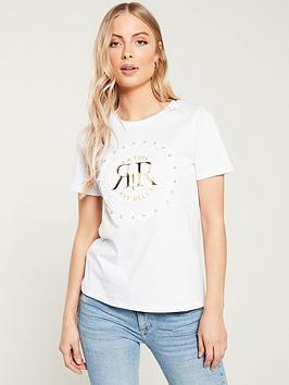 river-island-river-island-ri-embossed-diamante-t-shirt--white