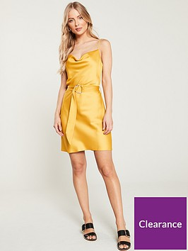 river-island-river-island-cowl-neck-belted-slip-dress--yellow