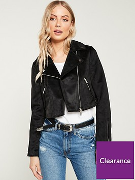 river-island-river-island-faux-suede-cropped-biker-jacket--black