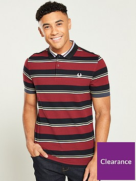 fred-perry-stripe-pique-polo-shirt-maroonnavy