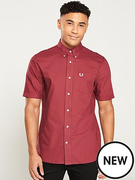 d4fda8dd8224d2 Fred Perry Classic Oxford Shirt - Maroon | littlewoods.com