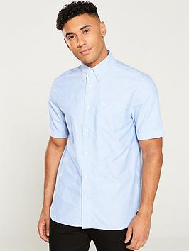 Fred Perry Fred Perry Classic Oxford Shirt - Light Smoke Picture