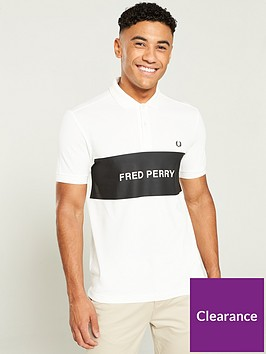fred-perry-printed-panel-pique-polo-shirt-white