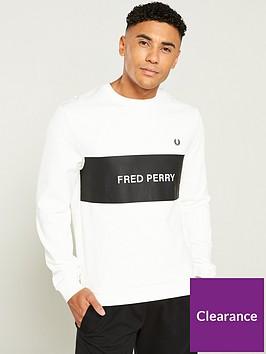 fred-perry-panel-sweatshirt-snow-white