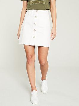 river-island-river-island-button-down-denim-mini-skirt--white